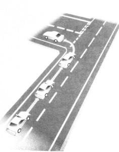 การเลี้ยวซ้ายเข้าสู่เส้นทางรอง